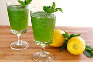 السعرات الحرارية في الليمون مع النعناع
