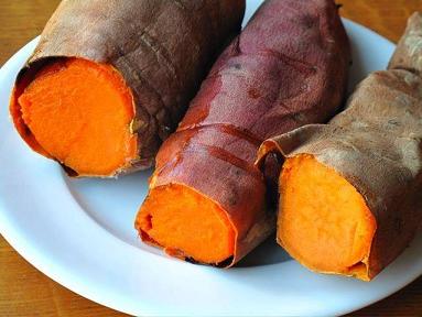 البطاطا الحلوة المسلوقة
