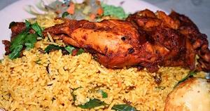السعرات الحرارية في الدجاج المقلي مع الأرز