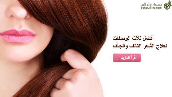 أفضل ثلاث الوصفات لعلاج الشعر التالف والجاف