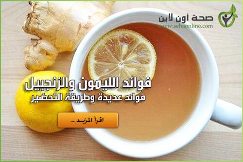 فوائد الزنجبيل والليمون … الفوائد الحقيقية والكاملة للزنجبيل والليمون