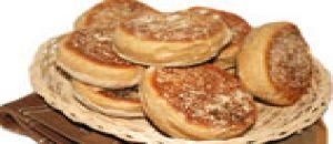 خبز أو كعك القمح الإنجليزي محمص