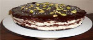 كعكة الشوكولاه منزلية مقاس 23 سم