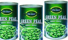 بازلاء خضراء مجففة أو معلبة