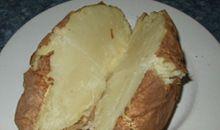 بطاطا أو بطاطس بالمايكرويف مع القشر