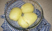 بطاطا أو بطاطس بالمايكرويف