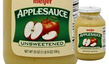 صلصة التفاح غير المحلاة