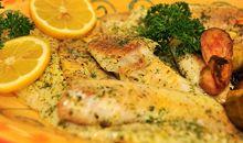 سمك البولوكمخبوز أو مشوي