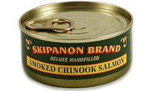 سمك السلمون مدخن و معلب