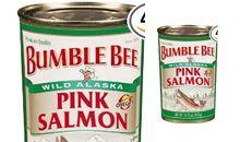 سمك السلمون الوردي معلب ومجفف