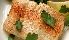 سمك الطربوت مخبوز أو مشوي
