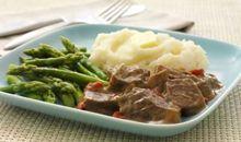 لحم بقري قليل الدهون مطهو