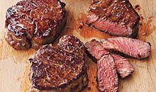 لحم خاصرة بقري قليل الدهون ومشوي