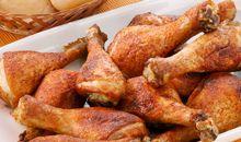 لحم دجاج بالجلد مشوي على الفحم