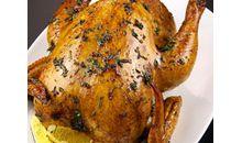 لحم دجاج بالجلد والعظم مشوي