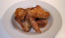 جناح الدجاج بالجلد مشوي