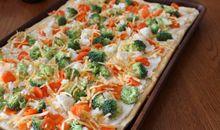 السعرات الحرارية في البيتزا بالخضار حجم وسط