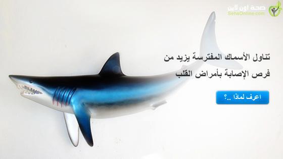 تناول الأسماك المفترسة يزيد من فرص الإصابة بأمراض القلب