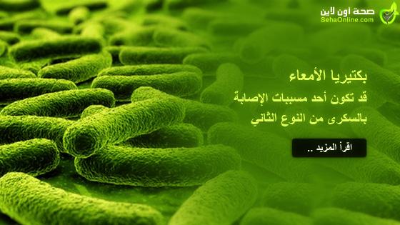 بكتيريا الأمعاء قد تكون أحد مسببات الإصابة بالسكرى من النوع الثاني